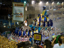 Rio Carnival. Large float with Penguins in Rio Carnival Stock Images
