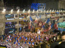 Rio Carnival. Float with French flags at Rio Carnival Royalty Free Stock Photo