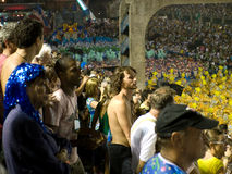 Rio Carnival. Onlookers in crowd at Rio Carnival in Stock Photos