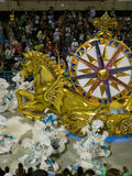 Rio Carnival. Golden horse at Rio Carnival, Brazil Royalty Free Stock Photo