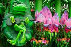 Rio Carnival Float Decorations lizenzfreies stockfoto