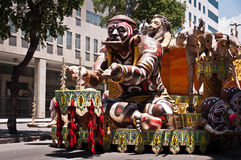 Rio Carnival Float Decorations lizenzfreie stockbilder