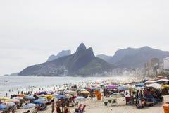 Rio Carnival ha ammucchiato le spiagge ed i giorni soleggiati Fotografia Stock