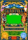 Rio Carnival Poster Illustration Brazil Carnaval Mask Show Parade Stock Photo