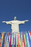 Rio Carnival Wish Ribbons Christ Redeemer Corcovado Stock Images