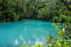 Rio Celeste blue acid water, Costa Rica Royalty Free Stock Image