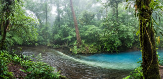 Rio Celeste blue acid water. Creation Stock Photos