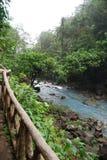 Rio Celeste en Costa Rica images stock