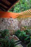 Rio Celeste Hotel Sower. Rio  Celeste River in Costa Rica Stock Photo