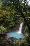 Rio Celeste River Waterfall Photographie stock libre de droits