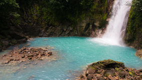Rio Celeste River Waterfall image stock