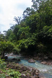 Rio Celeste River Waterfall. Rio  Celeste River in Costa Rica Stock Photo
