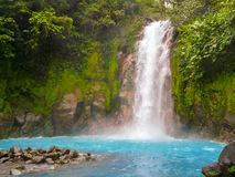 Rio Celeste. Tenorio volcano national park, Costa Rica Royalty Free Stock Image