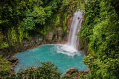 Rio Celeste waterfall in the fog Stock Photo