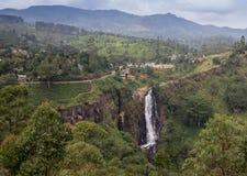 Rio Celeste Waterfall fotografou Imagem de Stock