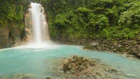 Rio Celeste Waterfall Panorama Stockbilder