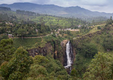 Rio Celeste Waterfall photographed Stock Image