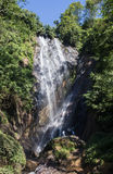 Rio Celeste Waterfall photographed. In Costa Rica Royalty Free Stock Images