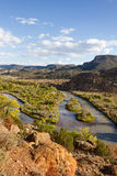 Rio Chama flod i höst Arkivfoto