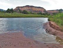 Rio Chama nära Abiquiu Arkivbild