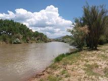 Rio Chama nära Abiquiu Royaltyfri Fotografi
