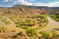 Rio Chama, New Mexico Royaltyfri Bild