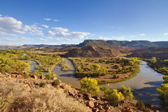 Rio Chama River in Autumn Royalty Free Stock Images