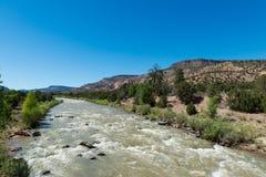 Rio Chama vicino a Abiquiú, New Mexico immagini stock