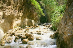 Rio Chillar, Nerja, Malaga. The Chillar River is a short coastal river in the south of Spain, located in the eastern part of the province of Malaga, between the stock image
