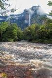 Rio Churun e tepui imagens de stock royalty free
