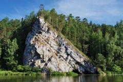 Rio Chusovaya Imagem de Stock
