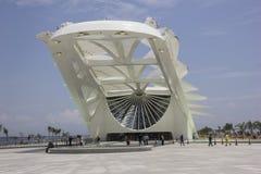 Rio City Hall öffnet das Museum des Morgens im Hafengebiet Stockbild