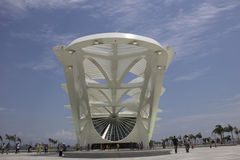 Rio City Hall öffnet das Museum des Morgens im Hafengebiet Stockbilder