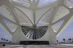 Rio City Hall öppnar museet av morgondagen i portområdet Arkivfoton