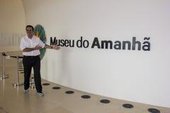 Rio City Hall öppnar museet av morgondagen i portområdet Royaltyfri Bild