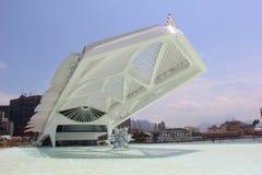 Rio City Hall öppnar museet av morgondagen i portområdet Arkivbilder