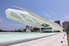 Rio City Hall öppnar museet av morgondagen i portområdet Royaltyfri Fotografi