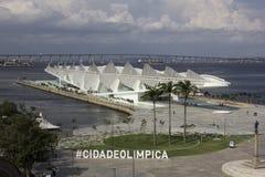 Rio City Hall öppnar museet av morgondagen i portområdet Royaltyfria Foton