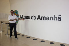 Rio City Hall ouvre le musée du demain dans la région de port Image libre de droits