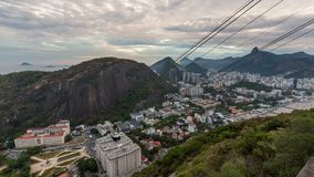 Rio Cityscape Time Lapse Dusk Panning stock footage