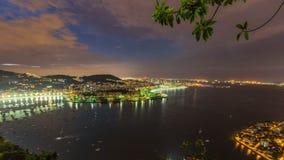Rio Cityscape Time Lapse Night que critica HDR almacen de video