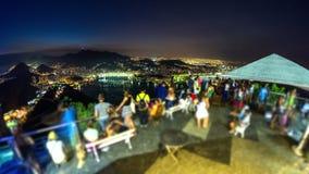 Rio Cityscape Time Lapse Night stock video