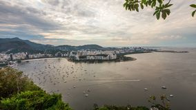 Rio Cityscape Time Lapse Panning stock video footage