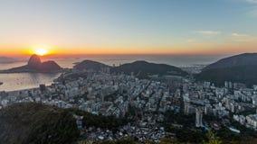 Rio Cityscape Time Lapse Sunrise Panning stock video