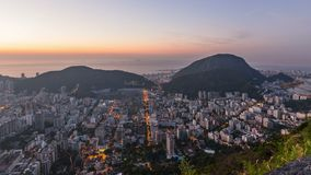 Rio Cityscape Time Lapse Sunrise-Zoom stock footage