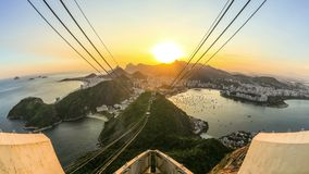 Rio Cityscape Time Lapse Sunset stock video