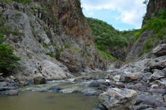 Rio Coco river and the Somoto Canyon, Nicaragua. The Somoto Canyon, one of the most important touristical places in Nicaragua, near to the boarder with Honduras Stock Photo
