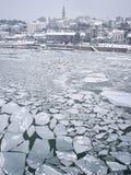 Rio congelado Foto de Stock Royalty Free