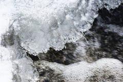Rio congelado Fotografia de Stock