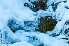 Rio congelado Fotos de Stock Royalty Free